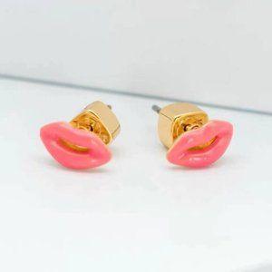 Kate Spade Pink Lip Enamel Stud Earrings